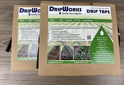 New Drip Works Drip Tape Irrigation Kit for Row Crops Gardens With 11000BT Timer