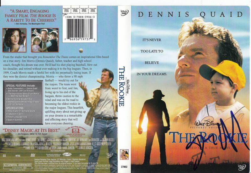 DENNIS QUAID signed (THE ROOKIE) Movie JIM MORRIS DVD COVER *PROOF* W/COA