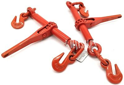 Qty-2 14 Or 516 Ratchet Load Binder Chain Equipment Tie Down Rigging