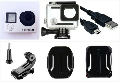 GoPro HERO 4 Black Edition 4K 1080P HD Camera Camcorder w/ waterproof case WiFi