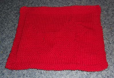 Brand New Hand Knit Scottish Terrier Design Cotton Dish Cloth Dog Rescue Charity