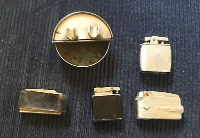 Job Lot Of Vintage Lighters Cigar Ash Tray Ronson Variflame Viking Calibri