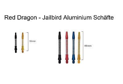 bird Aluminium Schäfte - Shaft - Farbe & Größe wählbar - NEU (Red Dart)