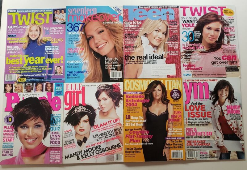 Mandy Moore Magazine Collection Lot of 16 2000-2007