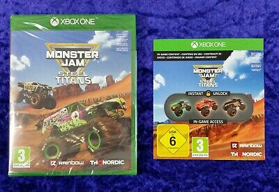 xbox one MONSTER JAM Steel Titans Game + DLC NEW & Sealed REGION FREE PAL UK