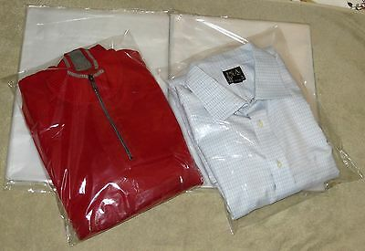"25 Clear 12 x 15 Poly T Shirt Plastic Bags 2"" Flap Lock Packaging Shipping"