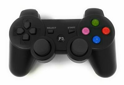 2 Joystick Playstation 3 Joypad PS3 Wireless Controller Senza Fili Gamepad Nero