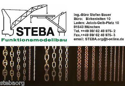 1,5mm steglose Ms- Kette gelötet 5,7/8,7 von STEBA 4855