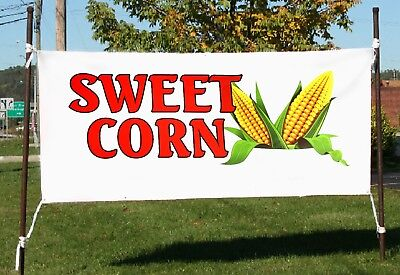 Sweet Corn Business Advertising Banners Signs Flags 18x48 24x72
