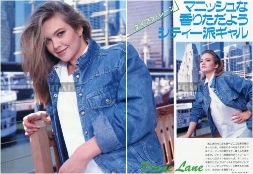 DIANE LANE in New York 1987 Japan Picture Clippings 2-SHEETS ph/w