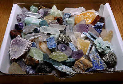 Crafters Rock Collection 1 Lb Mix Gems Crystals Natural Mineral (Collectibles)