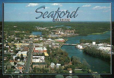 Aerial View Of Seaford Delaware  Delmarva Peninsula Along Us Route 13   Postcard