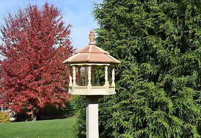 Large Gazebo Bird Feeder  Spindle type Amish Handcrafted Handmade wood  handmade