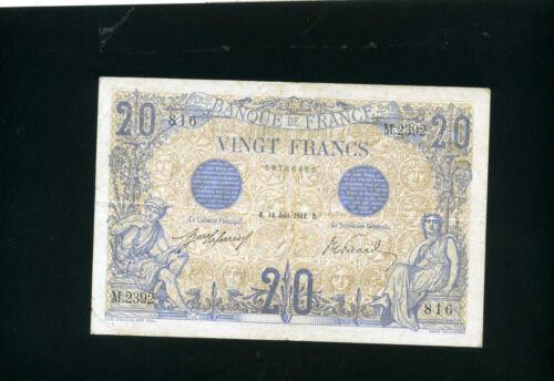 France 20 francs 1912  -  VF