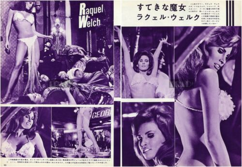 RAQUEL WELCH Bedazzled 1967 Vintage Japan Picture Clipping 2-SHEETS lh/o
