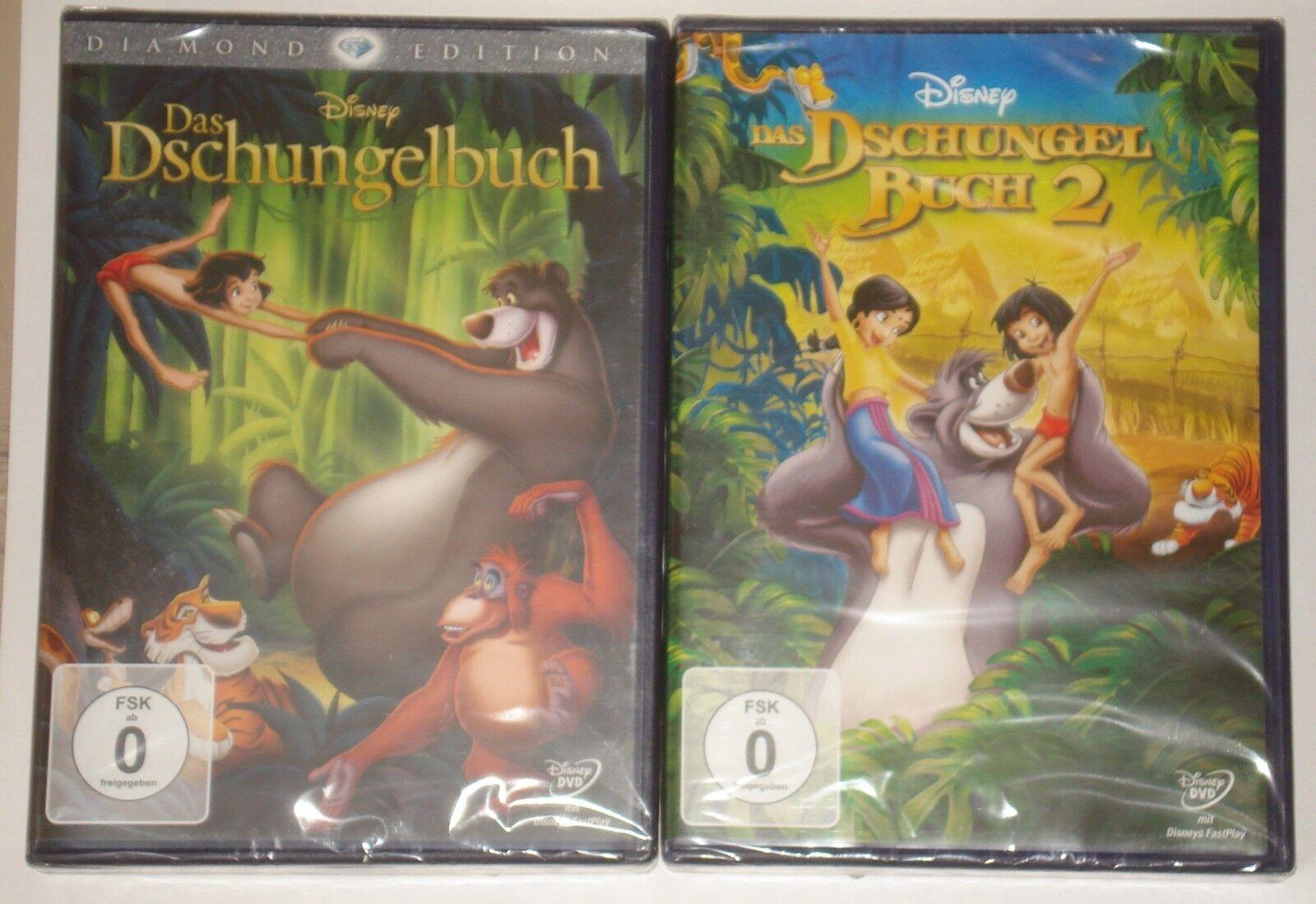 Das Dschungelbuch Teil 1 und Teil 2 NEU OVP  DVD Dschungelbuch 1 und 2