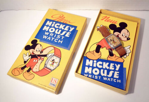 Vintage US Time New Mickey Mouse Wrist Watch Boxed! RARE!