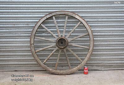 Vintage old wooden cart wagon wheel  / 95 cm - 36.5 kg - FREE DELIVERY