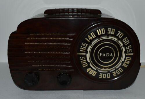 RARE Vintage FADA 845 SUPERHETERODYNE Swirl Tube Cloud Radio