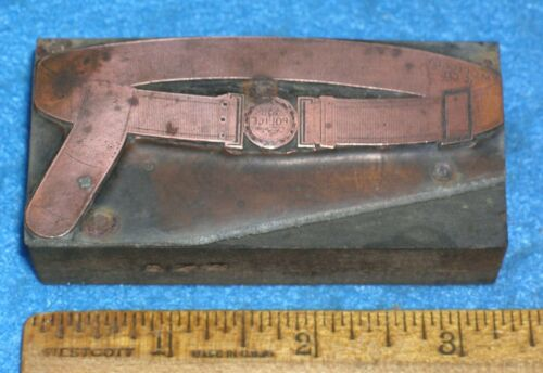 1865-1882 POLICE BELT & BUCKLE Copper Printing Block MC LILLEY Catalog Style #2