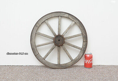 Vintage old wooden cart wagon wheel  / 44.5 cm - FREE DELIVERY