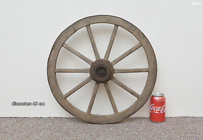 Vintage old wooden cart wagon wheel  / 45 cm - FREE DELIVERY
