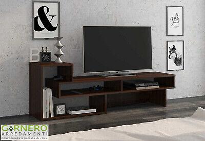 Parete attrezzata HELEN rovere scuro mobile soggiorno moderno design salotto tv