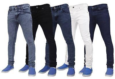 Mens True Face Super Skinny Slim Fit Stretchable Jeans Denim Cotton (Skinny Face Men)