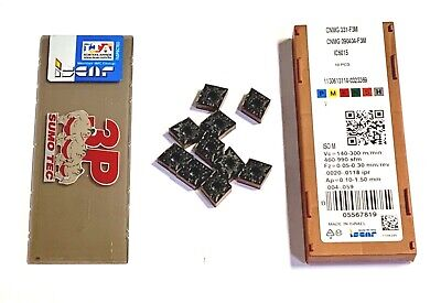 Iscar Carbide Inserts Cnmg 331-f3m Grade Ic6015 Rhombic Inserts 10 Pack