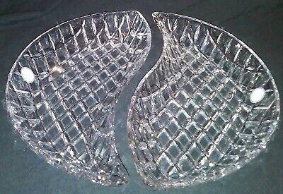 Fifth Avenue Crystsl Muirfield Set Of 2 Crystal Plates Fifth Avenue Plate Set