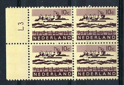 Delta 10 Block (NETHERLANDS = 1962 10c Delta Excavation Works. MNH Cylinder `L3` Block/4. SG938.)