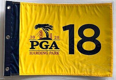 2020 Pga golf flag harding park championship yellow pin flag new