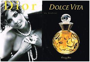 publicit advertising 1995 2 pages le parfum dolce vita dior par d issermann ebay. Black Bedroom Furniture Sets. Home Design Ideas