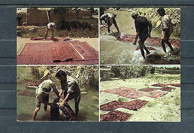 Interessante Ansichtskarte Pakistan zum Thema Teppiche - b1153