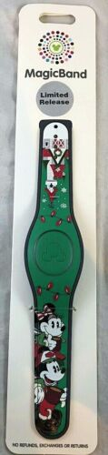 Disney Parks Christmas Holiday LR Magic Band WDW 2019 Mickey Minnie Mouse - NEW