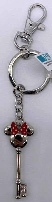 Disney Parks Minnie Mouse Bow Ears Icon Key Keychain - NEW