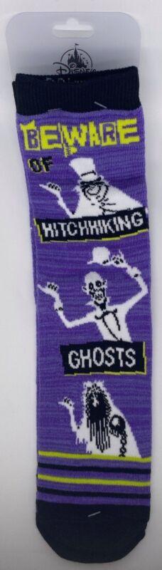 Disney Parks Haunted Mansion Beware Hitchhiking Ghosts Pair of Long Socks 9-12