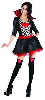 Damen Königin der Herzen Verkleidung Outfit Kostüm Sexy Tv Film Party Set