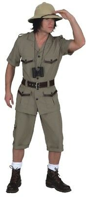 Mens Safari Explorer Jungle TV Film Book Day Stag Do Fancy Dress Costume Outfit](Safari Costume Male)