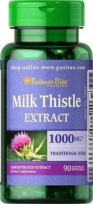 Puritans Pride Milk Thistle 4 1 Extract   1000 Mg  Silymarin    90 Softgels