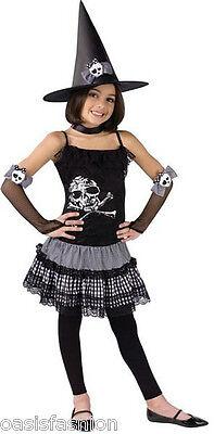 Kinder Mädchen Funky Punk Hexe Schädel Halloween Kostüm für Alter - Funky Hexe Kostüm