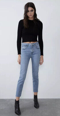 Zara Slim Fit High Rise Jeans Size 10
