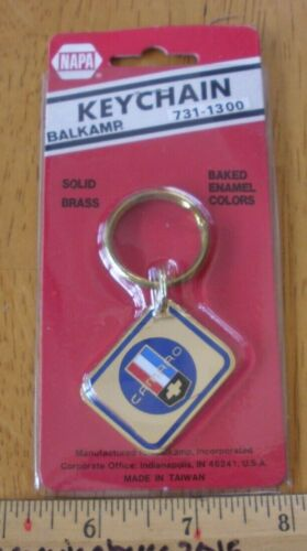 Chevy CAMARO keychain solid brass early 1980s vintage NOS NAPA enamel colors