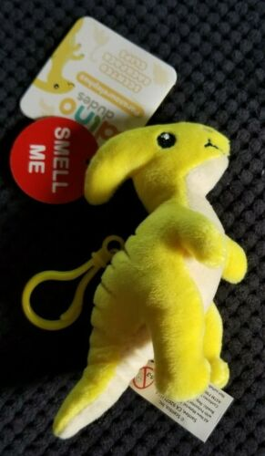 Dino Dudes Backpack Buddies - Scented Plush Toy Dinosaur Clips - Pineapple