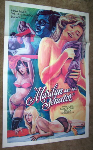1975 Marilyn And The Senator Original MOVIE Poster Nina Fause