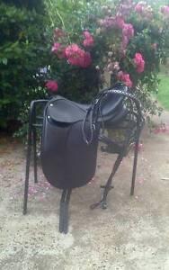 "Collegiate Convertible 16.5"" Dressage Saddle + Bridle Creswick Hepburn Area Preview"