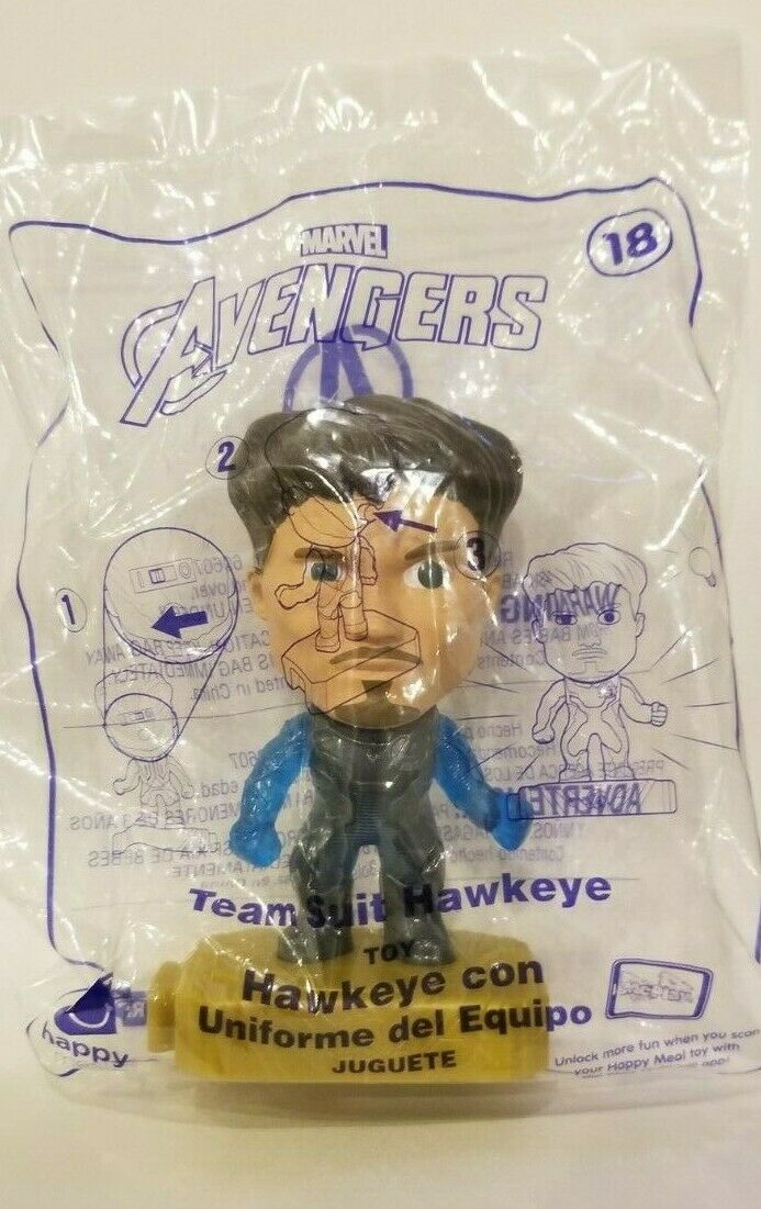 Avengers (2019) McDonalds Happy Meal Toys- Fast Shipping! #18 Team Suit Hawkeye