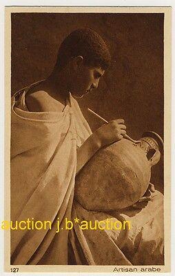 NORTH AFRICA YOUNG ARAB ARTIST JUNGER ARABER 1910S PC LEHNERT LANDROCK 16