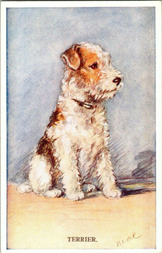 POSTCARD Dog, MAC Valentines Tailwagger, Wire Hair Fox Terrier, 1930