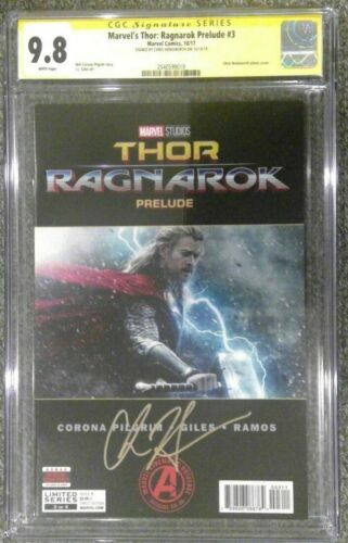 Marvel's Thor: Ragnarok Prelude #3__CGC 9.8 SS__Signed by Chris Hemsworth